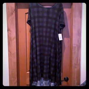 LulaRoe black & green Carly - size 2X - nwt